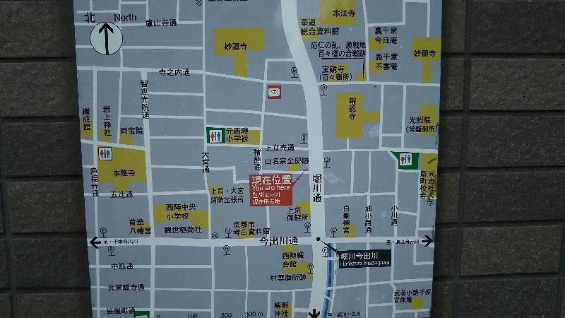 西陣 堀川通付近の地図