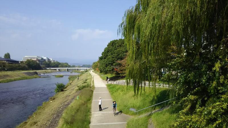 鴨川散歩 丸太町橋からの眺め左岸/京都 ブログガイド