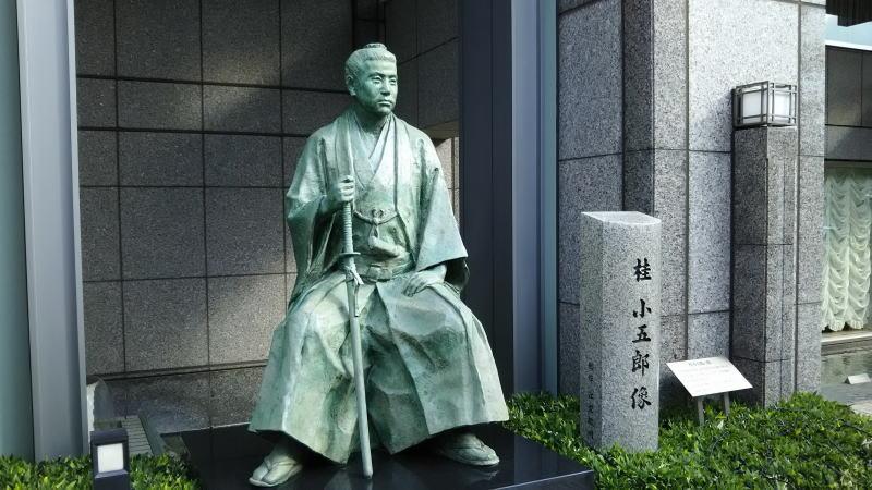 木屋町 幕末 史跡めぐり 桂小五郎銅像2