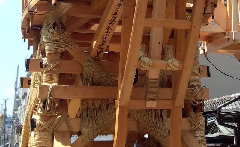 祇園祭 鉾建て / 京都 ブログ ガイド