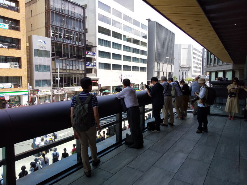 2019 祇園祭 後祭 京都経済センター 2階テラス/ 京都 ブログ ガイド