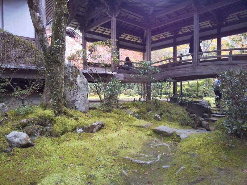 苔庭へ続く道/ 京都 ブログ ガイド