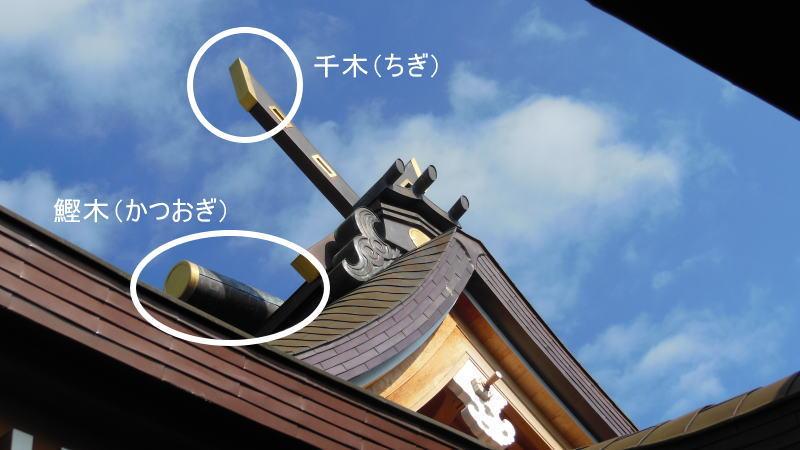 神社、神宮、大社、お宮、社 千木(ちぎ)・鰹木(かつおぎ) / 京都 ブログ ガイド