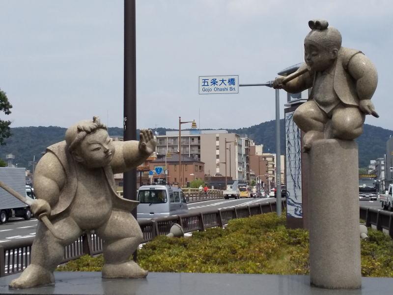 牛若丸 弁慶 決闘の像 / 京都 ブログガイド